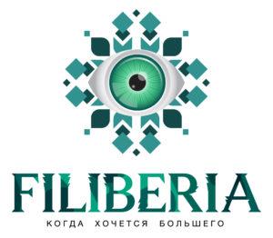логотип сайта filiberia в виде стилизованного глаза